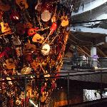 It's a column of musical instruments at EMP
