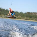 Luke wake-boarding
