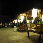 Some of Sur's Cabanas at night...you can choose to have drinks here for quiet evening out. Bar c