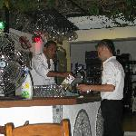 Staff at the bar!