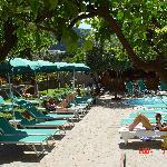 Solarium with sun-beds,, deck- chairs & sun umbrellas