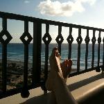 JW Marriott - relaxing on balcony