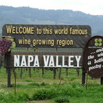 Classic wine country welcome landmark