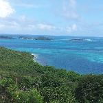 View of the Tobago cays from Mayreau