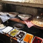 Part of Hanania Hotel's breakfast buffet