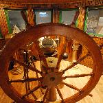 Ships Wheel in the steamship Elba pilothouse at the Sturgeon Bay Museum