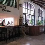 The lobby bar and patio