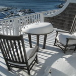 Snow on the deck.