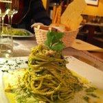 tagliolini alle erbette parmigiano e pinoli!