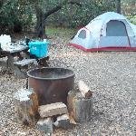 Spacious campsites