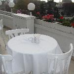 Breckfast balcony view