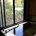 お部屋の檜風呂