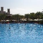 A view of the pool