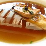 Consomme of Beef with Foie Gras and Truffles