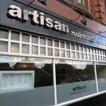 The exterior of Artisan Restuarant!