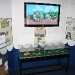 The prehistory room features an exhibition on the nearby submerged settlement of Bouldnor Cliff.
