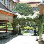 Garden with massage hut