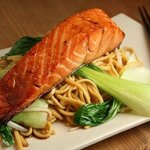 fish teriyaki with udon noodles.. out of the world...