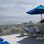View of beach from Beach Club