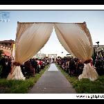 Outdoor wedding in the fabulous courtyard