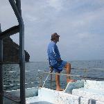 Captain Lani guarding his snorkelers