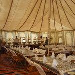 inside dining tent
