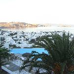 View of Mykonos from room balcony