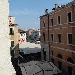 View from our window (room 4 if I recall correctly) Ca D'Oro on the Grand Canal in view, and the
