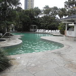 The main pool and canal that leads to the rock pool area