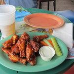 BBQ chicken wing appitizer