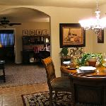 Meritage dining room and view into living area