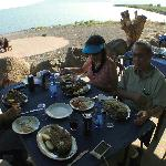 Lunch with Ilan and friends at Sea of Galilee