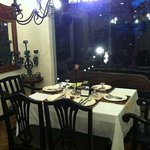 One of the dining tables at the 2nd floor
