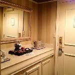 Hall, mini bar, coffeemaker in Junior Suite