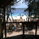 View from 'The Deck' at Gili Divers