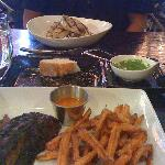 Tokyo steak with sweet potato fries