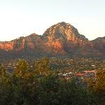 View over Sedona at sunset