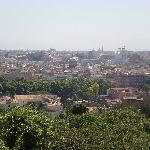 Blick vom Hügel  Gianicolo (ganz in der Nähe)
