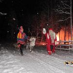 santa arriving amazing night