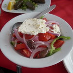 Our Greek salad at Babulas