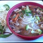 Nam Nam Cafe's Vegetarian Noodle Soup (pho with tofu).