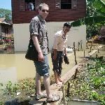 Arriving back from the stilt village, about to get back on the ox-cart