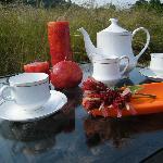 Tea-time in lush greenery
