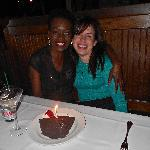 My best friend and I celebrating our birthdays at The Palm.