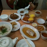 Spread of some of the food ordered.