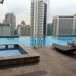 infinity pool on the 18th floor