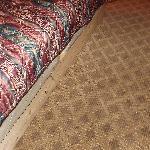 Bed on wood frame