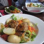 home made mackerel salad