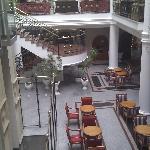 inside hotel bottom floor
