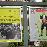 Werbung für die Wechselausstellungen der beiden Museen im Schloss